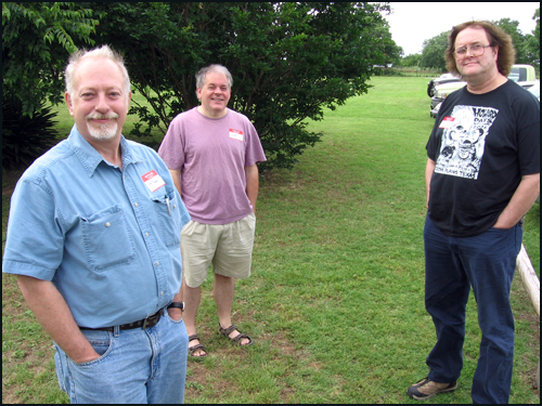 Ed Blohm, Gary Romeo, and Dennis McHaney at REH Days 2007